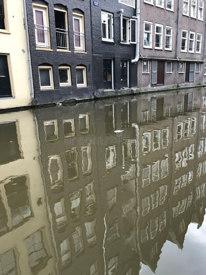 Reflexiones de Amsterdam foto de archivo libre de regalías