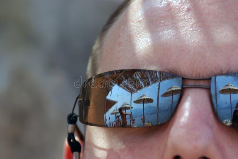 Reflexiones de los vidrios de Sun fotografía de archivo libre de regalías