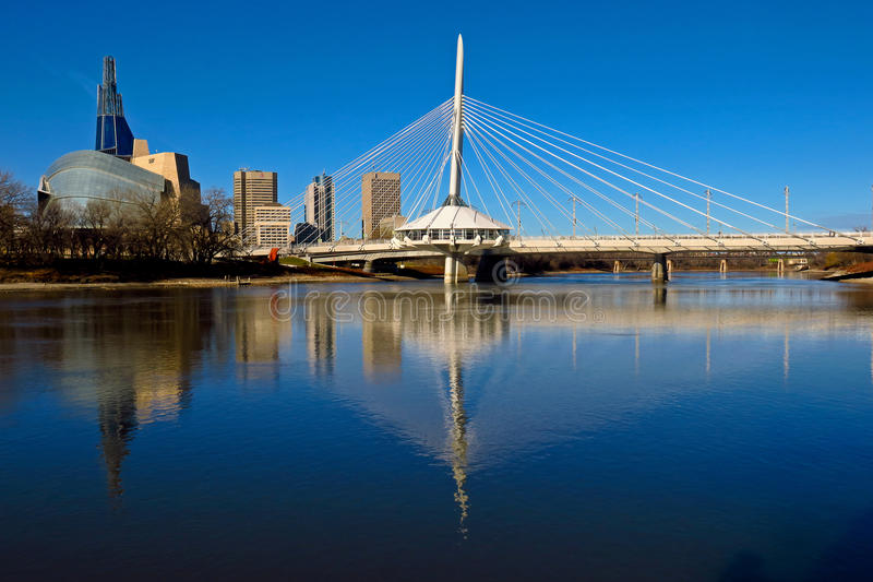 Reflexiones de Winnipeg foto de archivo