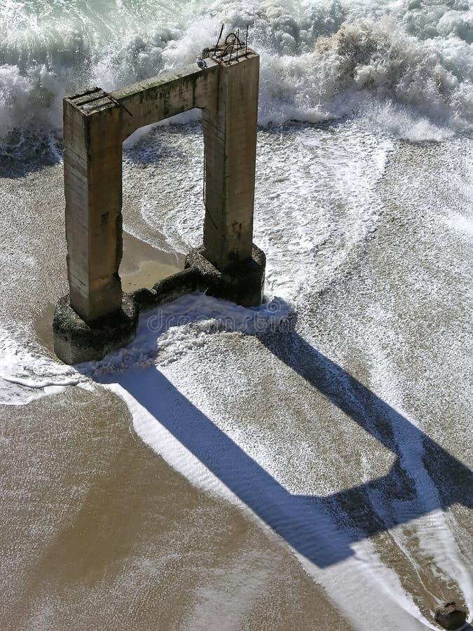 Reflexiones del embarcadero imagen de archivo