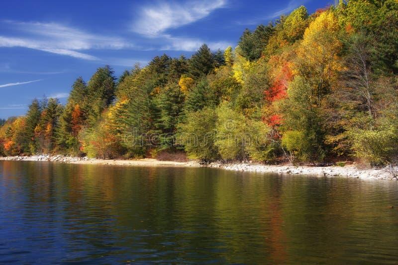 Reflexiones del lago Autmn fotografía de archivo