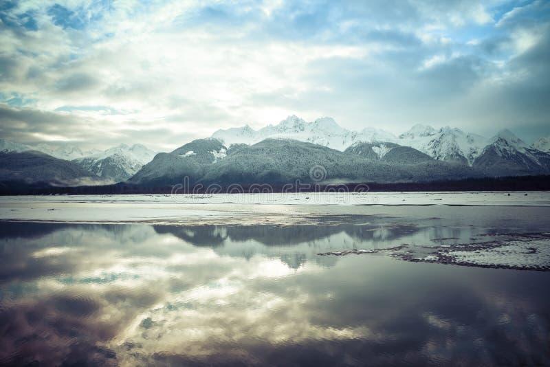 Reflexiones del río de Chilkat imágenes de archivo libres de regalías