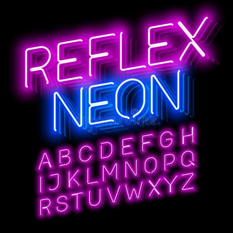 Reflexneon stock abbildung