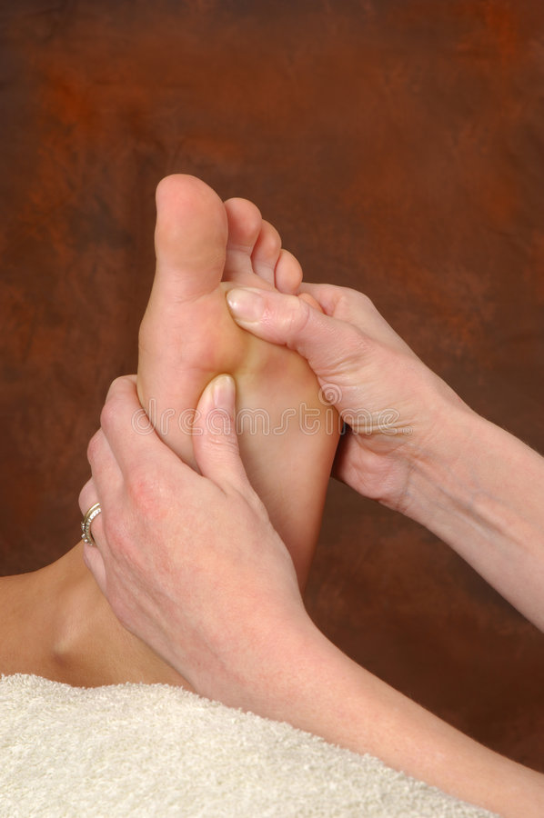 Reflexology Badekurort-Fuss-Massage stockbild