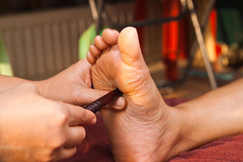 Download Reflexology foot massage stock image. Image of relaxation - 18315759