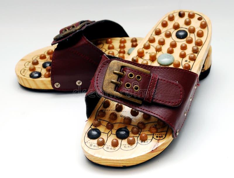 reflexology Schuhe stockbilder