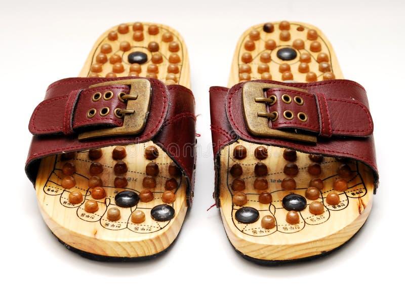 Reflexologyschoenen van de voet stock foto's