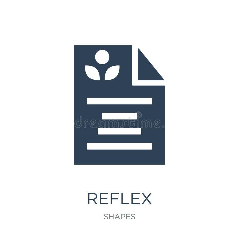 reflexsymbol i moderiktig designstil reflexsymbol som isoleras på vit bakgrund enkelt och modernt plant symbol för reflexvektorsy stock illustrationer
