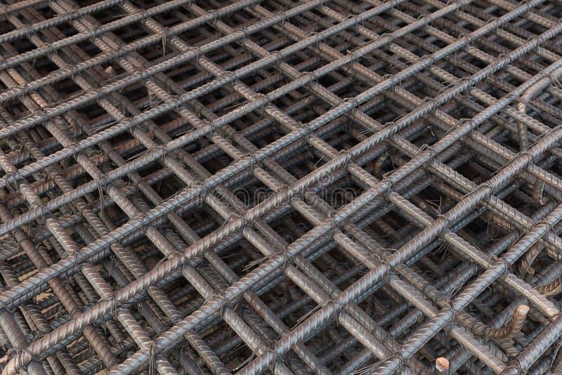 Reforço das barras de aço imagem de stock
