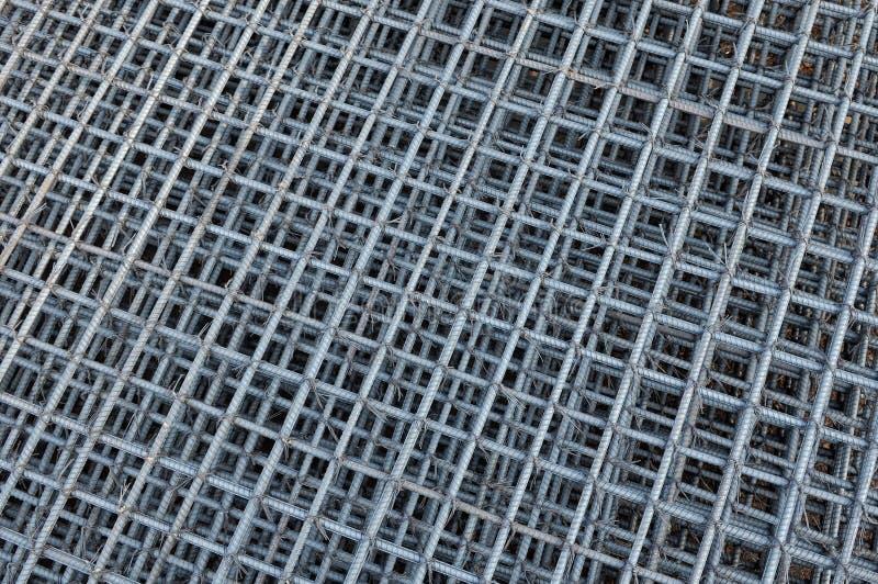 Reforço das barras de aço no canteiro de obras fotografia de stock