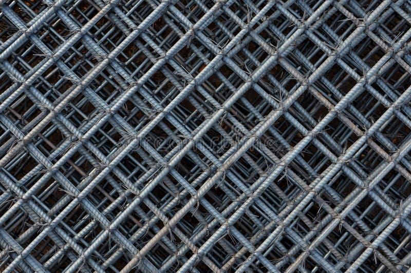 Reforço no canteiro de obras, grade das barras de aço da barra de aço foto de stock royalty free