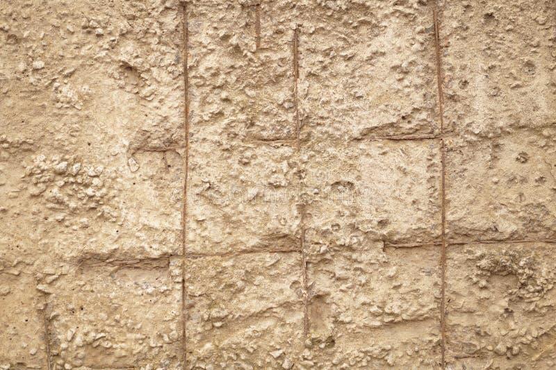 Reforço oxidado no concreto imagens de stock