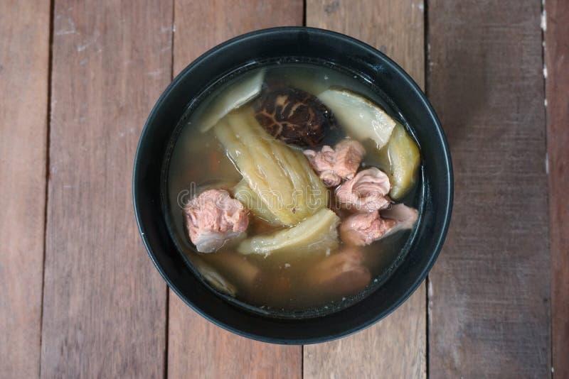 Reforços de carne de porco cozinhados cabaça imagem de stock