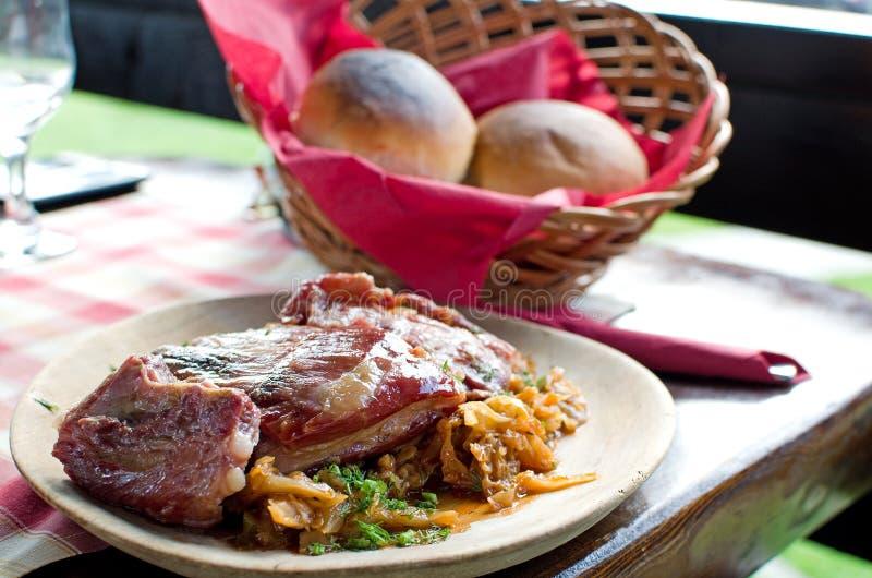 Reforços De Carne De Porco E Repolho Conservado - Receita Romena Imagens de Stock Royalty Free