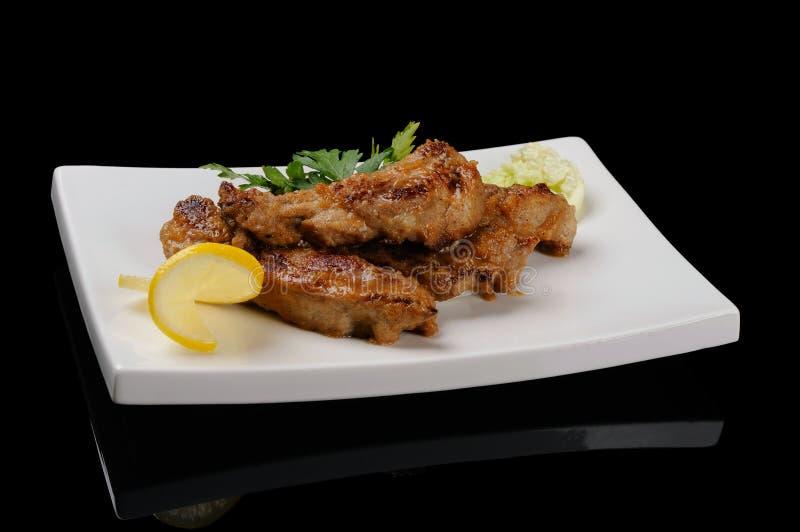 Download Reforços de carne de porco imagem de stock. Imagem de prato - 29846545