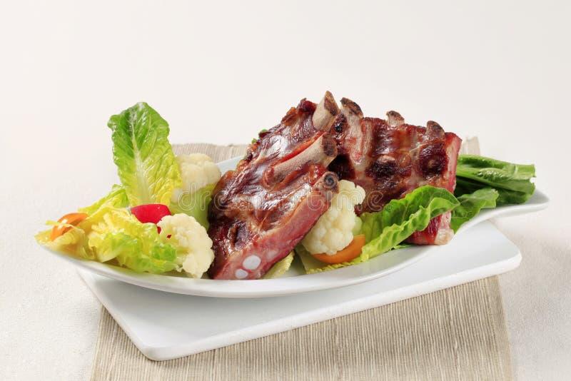 Reforços de carne de porco fumados fotos de stock royalty free