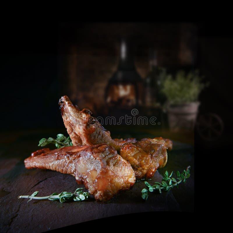 Reforços de carne de porco vitrificados foto de stock