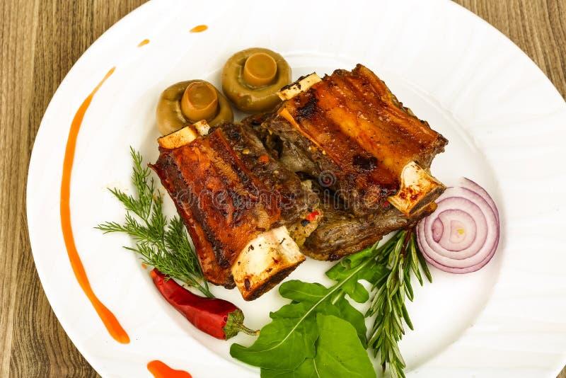 Reforços de carne Roasted foto de stock royalty free