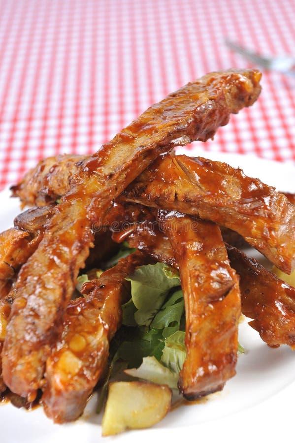 Reforços deliciosos do BBQ imagem de stock royalty free
