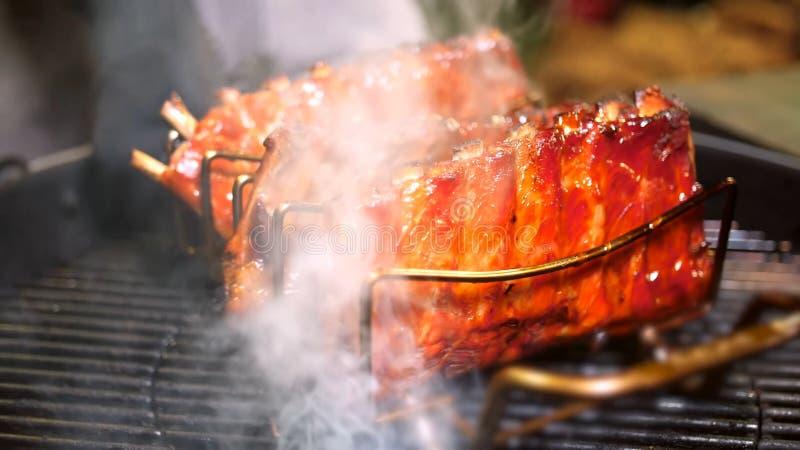 Refor?os de carne de porco grelhados imagem de stock royalty free