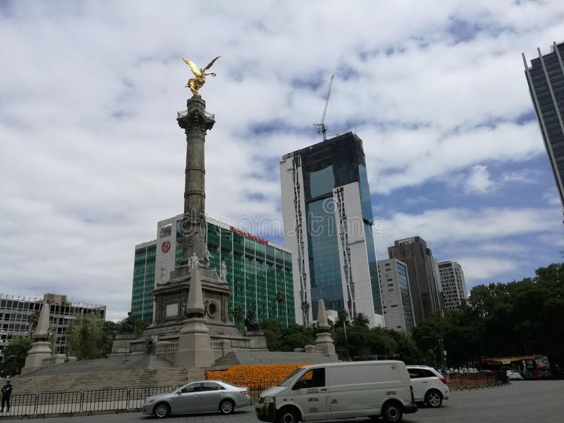Reforma aveny royaltyfria foton