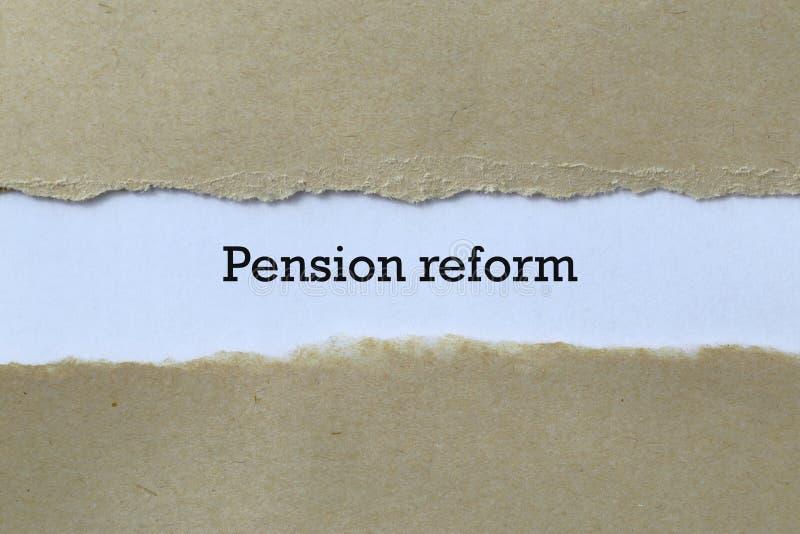 Reforma das pensões no papel imagens de stock