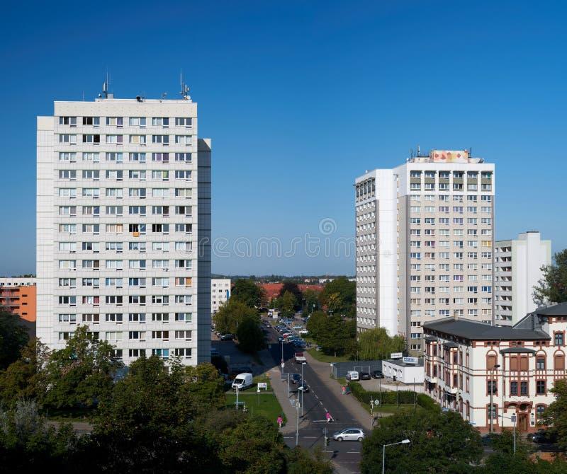 Reforma del distrito en Magdeburgo foto de archivo