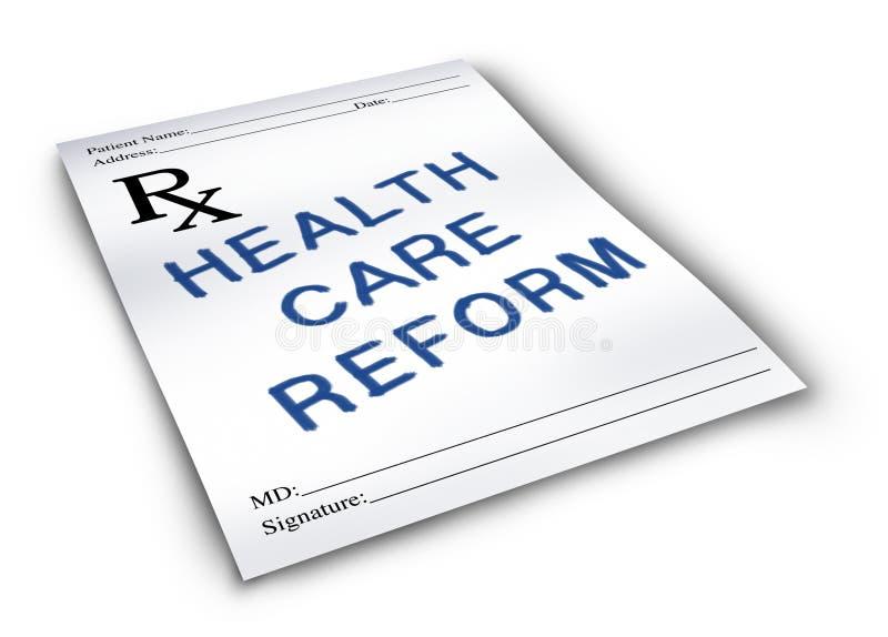 Reforma dos cuidados médicos ilustração royalty free