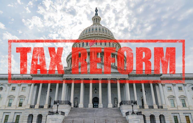 Reforma fiscal del capitolio de Estados Unidos fotos de archivo libres de regalías