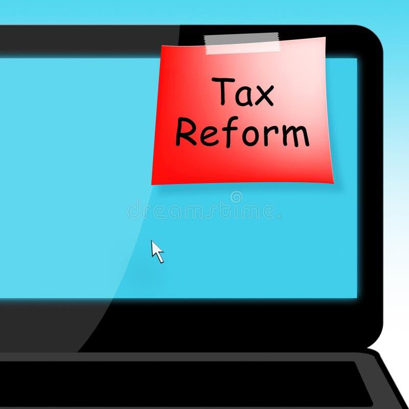 Reforma fiscal do trunfo para mudar o sistema de impostos em América - ilustração 3d ilustração royalty free