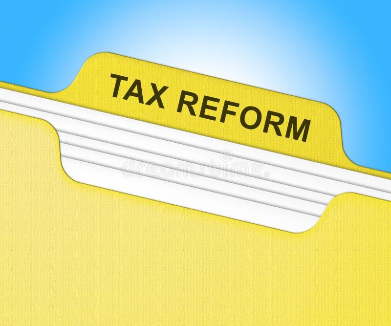 Reforma fiscal do trunfo para mudar o sistema fiscal em América - 2d ilustração ilustração stock