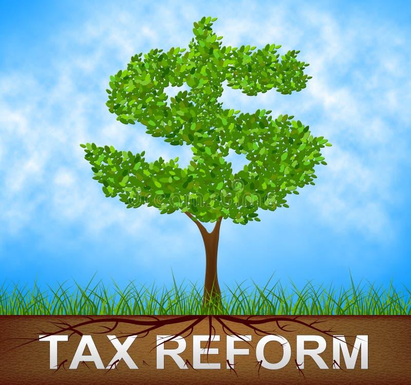 Reforma fiscal do trunfo para mudar o sistema fiscal em América - 2d ilustração ilustração do vetor