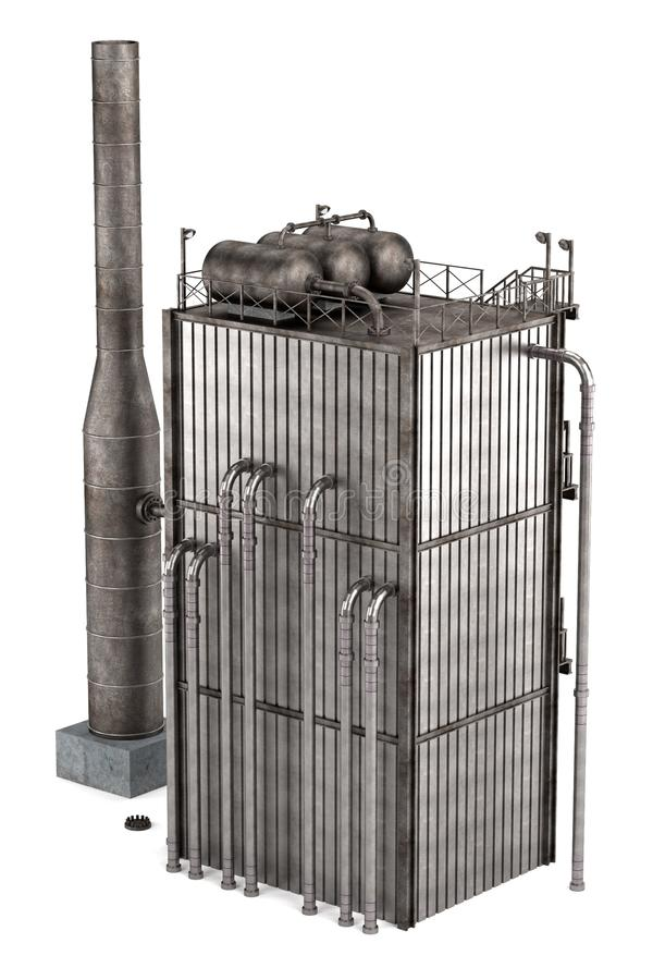Reformador de la refinería de petróleo stock de ilustración