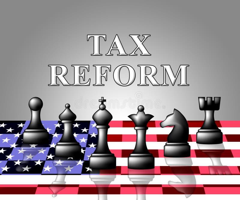 Reformas fiscais do trunfo para mudar o sistema fiscal em América - ilustração 3d ilustração royalty free