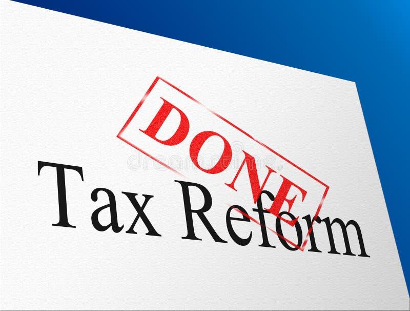 Reformas fiscais do trunfo para mudar o sistema fiscal em América - ilustração 3d ilustração stock