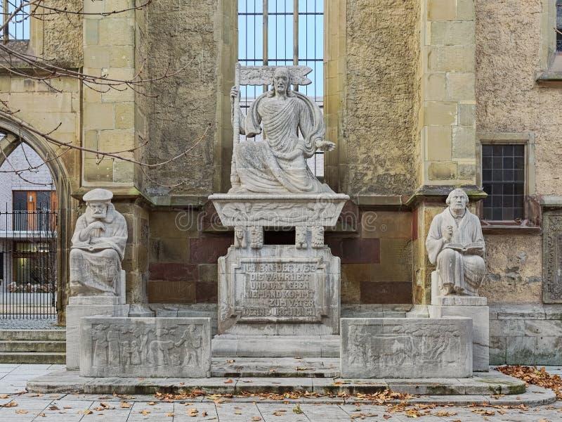 Reformation Monument i Stuttgart, Tyskland arkivfoton