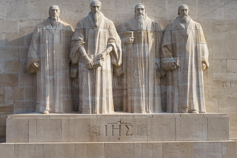Download Reformation wall in Geneva stock image. Image of marble - 38894101