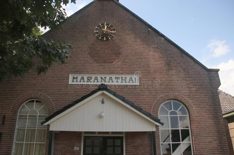 Reformed Maranatha church in small village `t Loo in the Netherlands. royalty free stock image