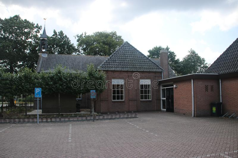 Reformed Maranatha church in small village `t Loo in the Netherlands. stock photo