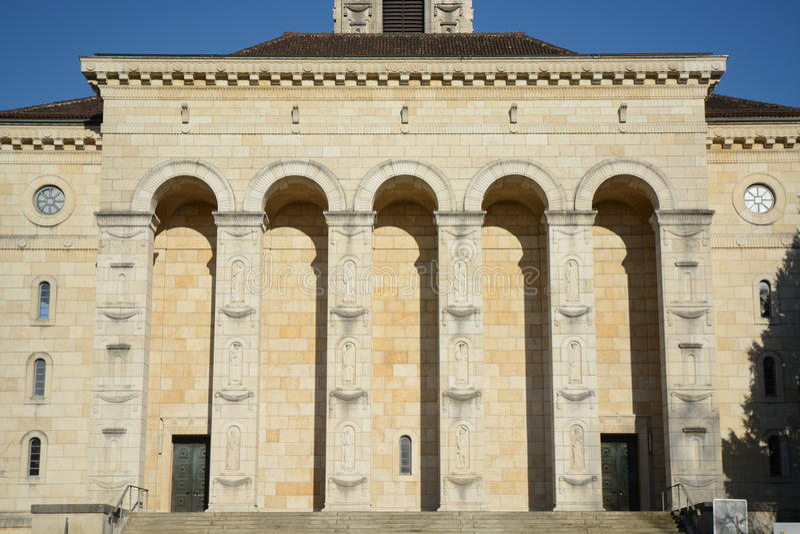 Reformierte Kirche Solothurn lizenzfreie stockbilder