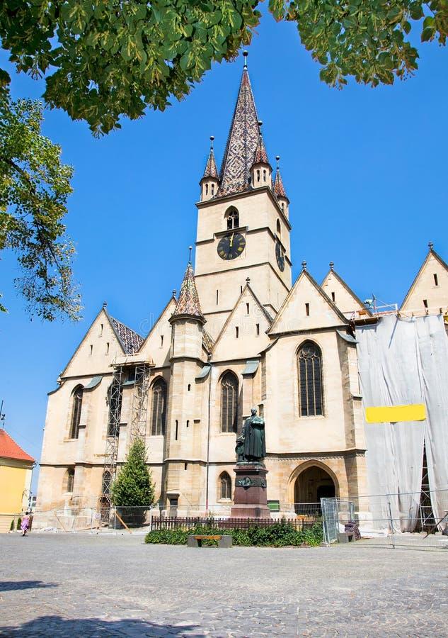 Reformowana katedra w Sibiu, Transylvania, Rumunia fotografia stock