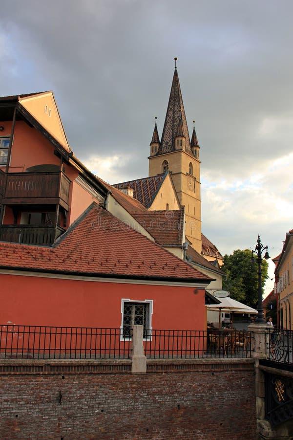 Reformowany, ewangelista kościół w Sibiu/, Rumunia obraz stock