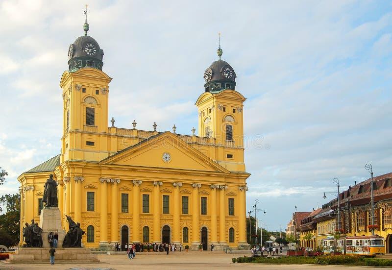 Reformowany kościół - Debrecen obraz royalty free
