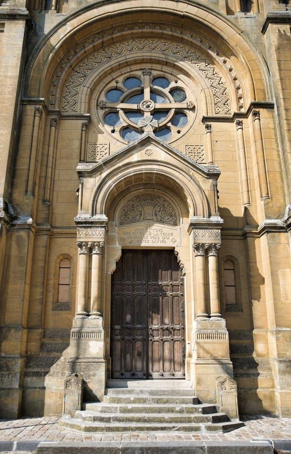 Reformowany kościół w francuskim mieście sedan zdjęcia royalty free