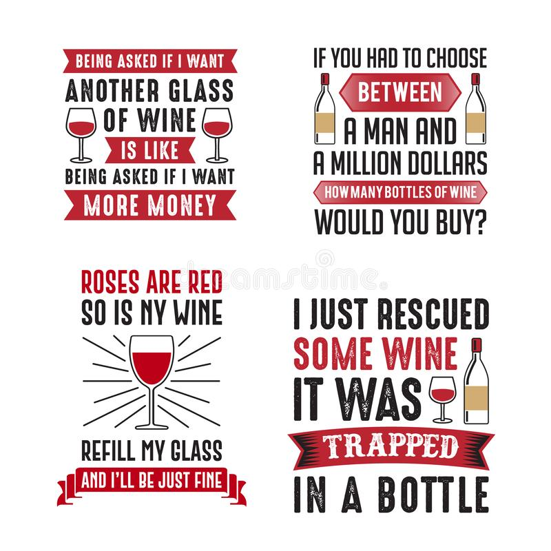 Refrán del vino y sistema de la cita libre illustration