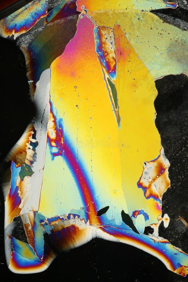 Refracción ligera en hielo foto de archivo
