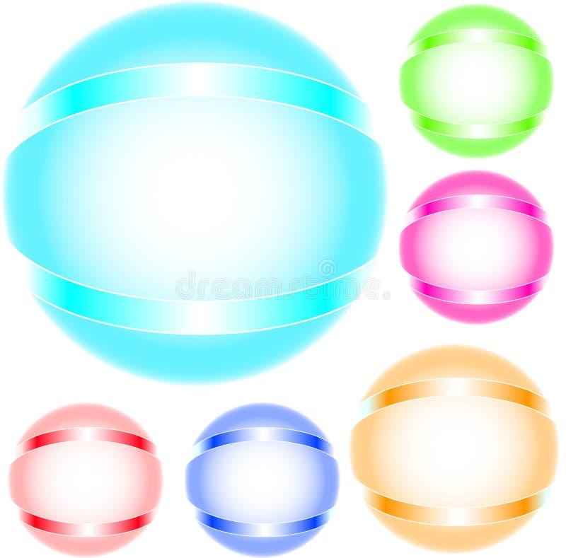 Refracting spheres stock photos