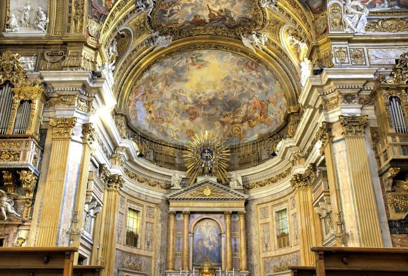 Refrein van Basiliek IL Gesu royalty-vrije stock foto's