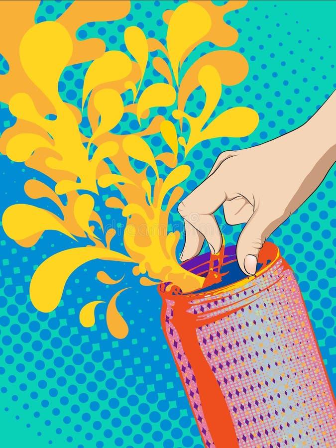 Refresco aberto do dedo ilustração royalty free
