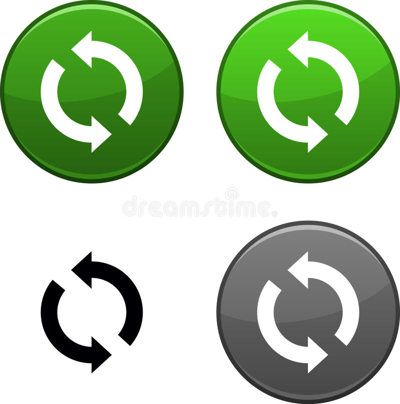 Download Refresh button. stock vector. Image of buttons, circle - 14512764